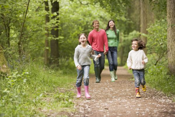 Family on a nature walk