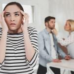 woman annoyed by mother-in-law